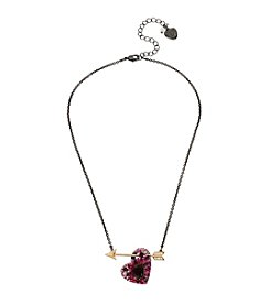 Betsey Johnson® Heart and Arrow Pendant Necklace
