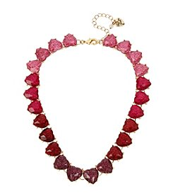 Betsey Johnson® Heart Stone Collar Necklace