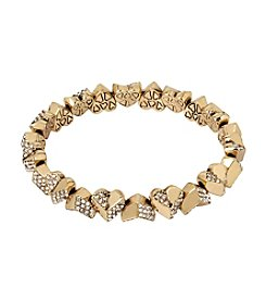 Betsey Johnson® Geometric Heart Stretch Bracelet