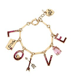 Betsey Johnson® Love Charm Bracelet