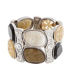 Erica Lyons® Neutral Territory Stone Stretch Bracelet