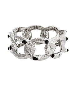 Erica Lyons® Neutral Territory Link Stretch Bracelet