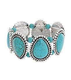 Erica Lyons® Teardrop Stones Stretch Bracelet