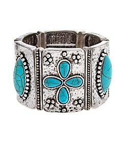 Erica Lyons® Wide Rectangle Stretch Bracelet