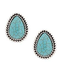 Erica Lyons® Large Teardrop Clip Earrings