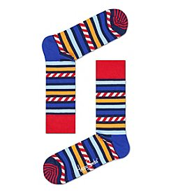 Happy Socks® Stripes And Stars Print Socks