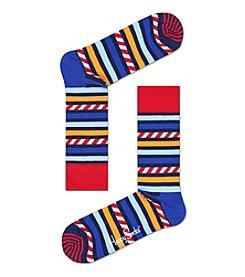 Happy Socks® Stripes And Stars Print Socks