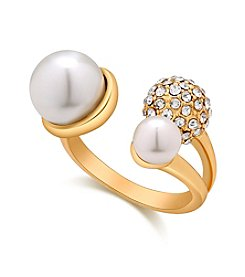GUESS Pearl Crystal Ring
