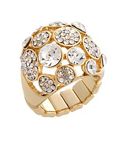 Erica Lyons® Glamorous Dome Fashion Stretch Ring