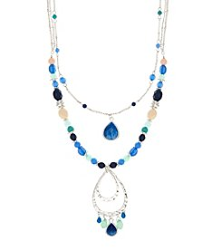 Nine West Vintage America Collection® Blue Layered Pendant Necklace