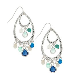 Nine West Vintage America Collection® Silvertone Shaky Teardrop Earrings