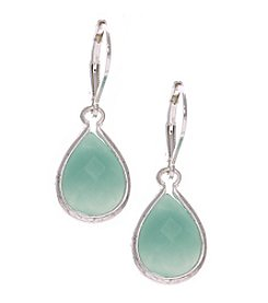 Nine West Vintage America Collection® Silvertone Teadrop Earrings
