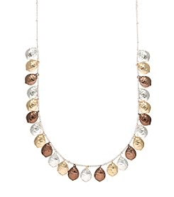 Nine West Vintage America Collection® Tri Tone Shaky Frontal Necklace