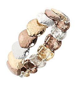 Nine West Vintage America Collection® Tri Tone Stretch Bracelet