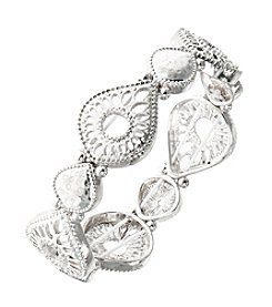 Nine West Vintage America Collection® Openwork Silvertone Stretch Bracelet