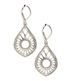 Nine West Vintage America Collection® Openwork Silvertone Teardrop Earrings
