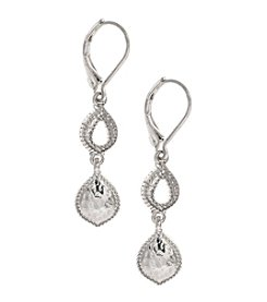 Nine West Vintage America Collection® Silvertone Double Drop Earrings