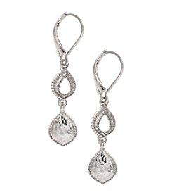 Nine West Vintage America Collection® Silvertone Double Drop Earrings