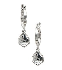 Nine West Vintage America Collection® Silvertone Drop Off Hoop Earrings