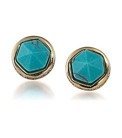 Lauren Ralph Lauren® Geometric Turquoise Round Stud Earrings