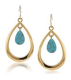 Lauren Ralph Lauren® Paradise Found Hoop Drop Earrings