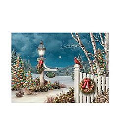 LPG Greetings 16-Ct. Bird On Fence Holiday Cards