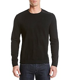 Calvin Klein Men's Shoulder Zip Long Sleeve Sweater