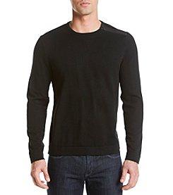 Calvin Klein Men's Shoulder Zip Long Sleeve Sweater