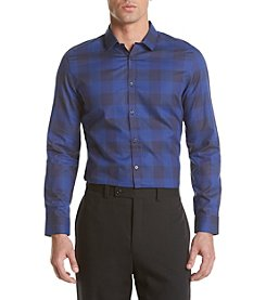 Calvin Klein Men's Slim Fit Long Sleeve Buffalo Check Button Down  Shirt