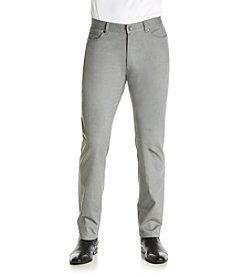 Calvin Klein Men's Slim Fit  Five Pocket Herringbone Tweed Pant