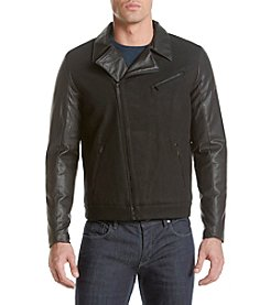 Calvin Klein Men's Mix Media Moto Jacket