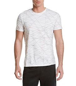 Calvin Klein Men's Slim Fit Abstract Grid Tee Shirt