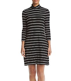 Jessica Howard® Mock Neck Striped Swing Dress