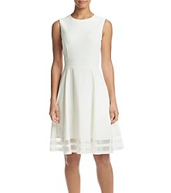 Calvin Klein Fit And Flare Mesh Dress