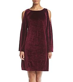 Adrianna Papell® Velvet Cold Shoulder Dress