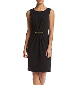 Calvin Klein Goldtone Embelishment Sheath Dress