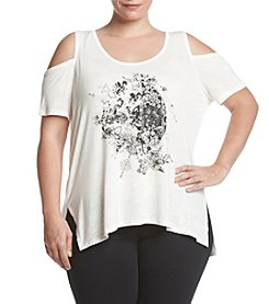 Jessica Simpson Plus Size Cold Shoulder Top
