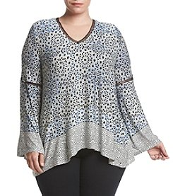 Jessica Simpson Plus Size Ladria Peasant Top