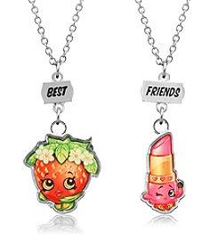 Shopkins™ Children's Best Friends Lippy Lips & Strawberry Kiss Necklace Set