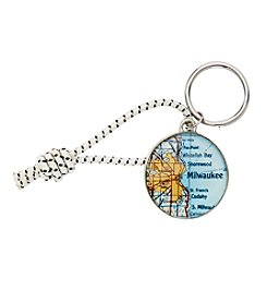 CHART Metalworks Milwaukee Map Key Ring