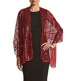 Cejon® Sequin Scallop Evening Wrap