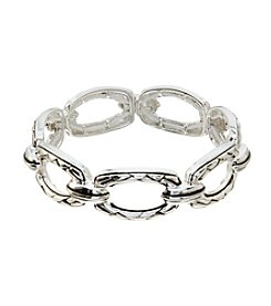 Napier® Light Antique Doorknocker Stretch Bracelet