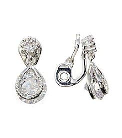Napier® Teardrop EZ Comfort Clip Earrings