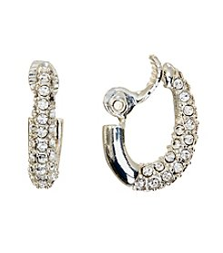 Napier® Simulated Crystal Encrusted Clip On Earrings