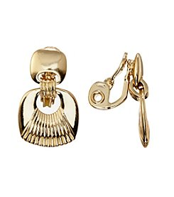 Napier® EZ Comfort Clip Double Drop Earrings