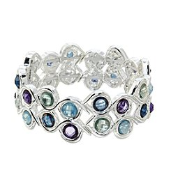 Napier® Faceted Stone Stretch Bracelet