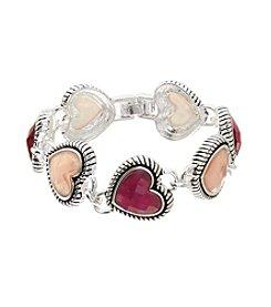 Napier® Boxed Heart Line Flex Bracelet