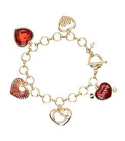 Napier® Boxed Heart Charm Bracelet