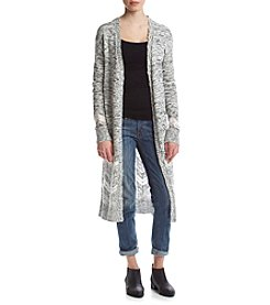 Sequin Hearts® Long Sleeve Print Cardigan