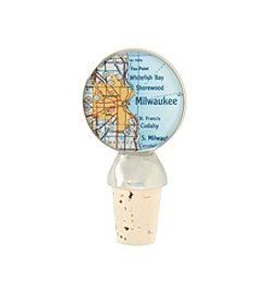 CHART Metalworks Milwaukee Map Wine Stopper